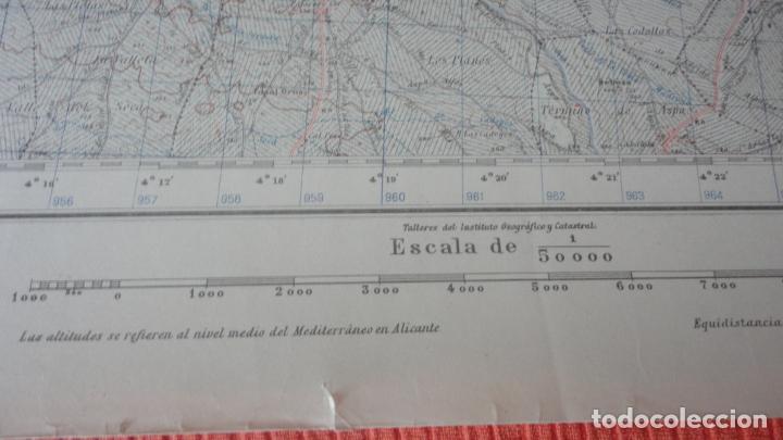 Mapas contemporáneos: ANTIGUO MAPA LERIDA.EDICION MILITAR 1950 - Foto 8 - 162683406