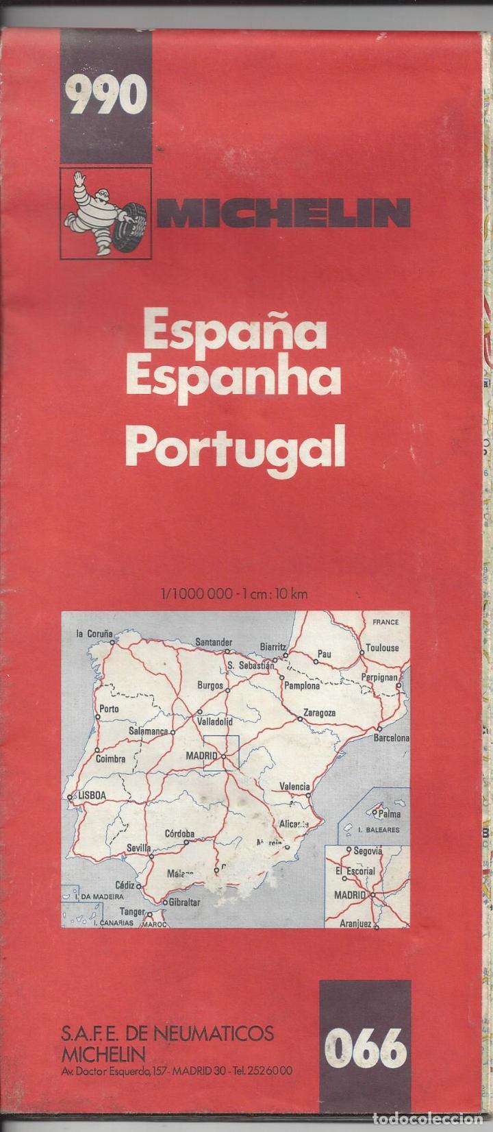 Mapa Michelin Espana Y Portugal Nº 990 Ano 19 Sold Through