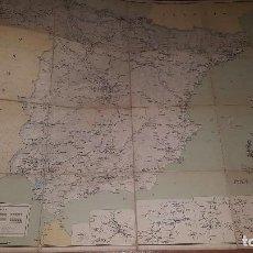 Mapas contemporáneos: MAPA DE FERROCARRILES, AGRUPACION DE MOVILIZACION Y PRACTICAS DE FERROCARRILES,83 X 68 CM. ENTELADO . Lote 163307602
