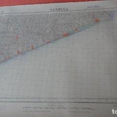 Mapas contemporáneos: ANTIGUO MAPA.CALELLA.BARCELONA.EDICION MILITAR 1950. Lote 163404442
