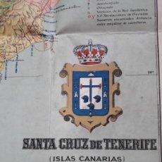 Mapas contemporáneos: MAPA EN TELA DE SANTA CRUZ DE TENERIFE. 1930 (DE BENITO CHÍAS). Lote 164830406