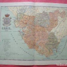 Mapas contemporáneos: CADIZ.-MAPA.-ATLAS GEOGRAFICO DE ESPAÑA.-MANUEL ESCUDE.-LITOGRAFIA A. MARTIN.-BENITO CHIAS.-AÑO 1903. Lote 164980326