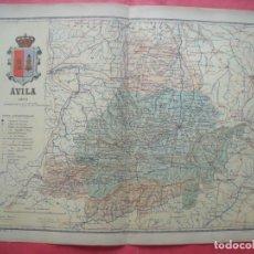 Mapas contemporáneos: AVILA.-MAPA.-ATLAS GEOGRAFICO DE ESPAÑA.-MANUEL ESCUDE.-LITOGRAFIA A. MARTIN.-BENITO CHIAS.-AÑO 1903. Lote 164980478