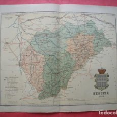 Mapas contemporáneos: SEGOVIA.-MAPA.-ATLAS GEOGRAFICO DE ESPAÑA.-MANUEL ESCUDE.-LITOGRAFIA A. MARTIN.-BENITO CHIAS.-1902.. Lote 164980562