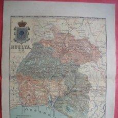 Mapas contemporáneos: HUELVA.-MAPA.-ATLAS GEOGRAFICO DE ESPAÑA.-MANUEL ESCUDE.-LITOGRAFIA A. MARTIN.-BENITO CHIAS.AÑO 1903. Lote 164982010
