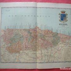 Mapas contemporáneos: OVIEDO.-MAPA.-ATLAS GEOGRAFICO DE ESPAÑA.-MANUEL ESCUDE.-LITOGRAFIA A. MARTIN.-BENITO CHIAS.AÑO 1903. Lote 164983266