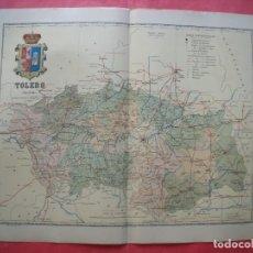 Mapas contemporáneos: TOLEDO.-MAPA.-ATLAS GEOGRAFICO DE ESPAÑA.-MANUEL ESCUDE.-LITOGRAFIA A. MARTIN.-BENITO CHIAS.AÑO 1902. Lote 164983298