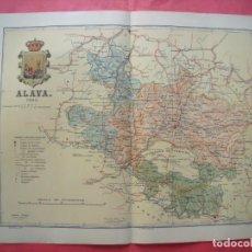 Mapas contemporáneos: ALAVA.-MAPA.-ATLAS GEOGRAFICO DE ESPAÑA.-MANUEL ESCUDE.-LITOGRAFIA A. MARTIN.-BENITO CHIAS.-AÑO 1903. Lote 164983358