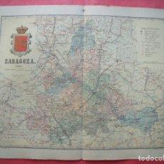 Mapas contemporáneos: ZARAGOZA.-MAPA.-ATLAS GEOGRAFICO DE ESPAÑA.-MANUEL ESCUDE.-LITOGRAFIA A. MARTIN.-BENITO CHIAS.-1903.. Lote 164983558