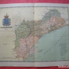 Mapas contemporáneos: TARRAGONA.-MAPA.-ATLAS GEOGRAFICO DE ESPAÑA.-MANUEL ESCUDE.-LITOGRAFIA A. MARTIN.-BENITO CHIAS.-1901. Lote 164983722