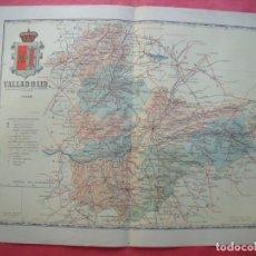 Mapas contemporáneos: VALLADOLID.-MAPA.-ATLAS GEOGRAFICO DE ESPAÑA.-MANUEL ESCUDE.-LITOGRAFIA A. MARTIN.-BENITO CHIAS.1902. Lote 164983886