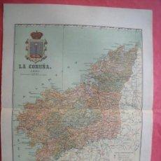 Mapas contemporáneos: LA CORUÑA.-MAPA.-ATLAS GEOGRAFICO DE ESPAÑA.-MANUEL ESCUDE.-LITOGRAFIA A. MARTIN.-BENITO CHIAS.-1903. Lote 164983430