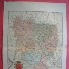 Mapas contemporáneos: HUESCA.-MAPA.-ATLAS GEOGRAFICO DE ESPAÑA.-MANUEL ESCUDE.-LITOGRAFIA A. MARTIN.-BENITO CHIAS.AÑO 1903. Lote 164983778