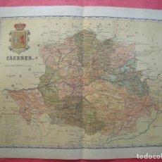 Mapas contemporáneos: CACERES.-MAPA.-ATLAS GEOGRAFICO DE ESPAÑA.-MANUEL ESCUDE.-LITOGRAFIA A. MARTIN.-BENITO CHIAS.SIN AÑO. Lote 164983946