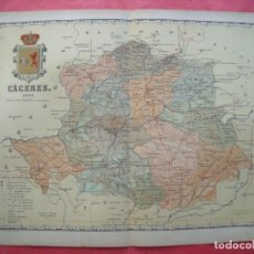 Mapas contemporáneos: CACERES.-MAPA.-ATLAS GEOGRAFICO DE ESPAÑA.-MANUEL ESCUDE.-LITOGRAFIA A. MARTIN.-BENITO CHIAS.-1901.. Lote 164984014