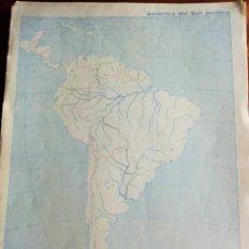 Mapas contemporáneos: AMÉRICA DEL SUR POLÍTICA. MOD. 7153. EDITORIAL TEIDE 1.964. Lote 165089294