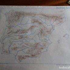 Mapas contemporáneos: PENÍNSULA IBÉRICA. MOD. 7175. EDITORIAL TEIDE 1.964. Lote 165091134
