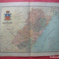 Mapas contemporáneos: CASTELLON.-MAPA.-ATLAS GEOGRAFICO DE ESPAÑA.-MANUEL ESCUDE.-LITOGRAFIA A. MARTIN.-BENITO CHIAS.-1903. Lote 165369590
