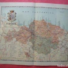 Mapas contemporáneos: VIZCAYA.-MAPA.-ATLAS GEOGRAFICO DE ESPAÑA.-MANUEL ESCUDE.-LITOGRAFIA A. MARTIN.-BENITO CHIAS.-1903.. Lote 165370006