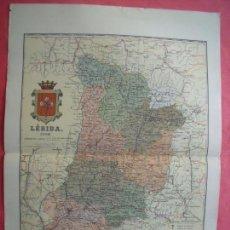 Mapas contemporáneos: LERIDA.-MAPA.-ATLAS GEOGRAFICO DE ESPAÑA.-MANUEL ESCUDE.-LITOGRAFIA A. MARTIN.-BENITO CHIAS.-1902.. Lote 165370342