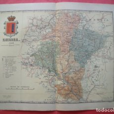 Mapas contemporáneos: NAVARRA.-MAPA.-ATLAS GEOGRAFICO DE ESPAÑA.-MANUEL ESCUDE.-LITOGRAFIA A. MARTIN.-BENITO CHIAS.-1902.. Lote 165373402