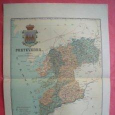 Mapas contemporáneos: PONTEVEDRA.-MAPA.-ATLAS GEOGRAFICO DE ESPAÑA.-MANUEL ESCUDE.-LITOGRAFIA A. MARTIN.-BENITO CHIAS.1902. Lote 165374558