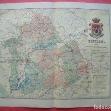 Mapas contemporáneos: SEVILLA.-MAPA.-ATLAS GEOGRAFICO DE ESPAÑA.-MANUEL ESCUDE.-LITOGRAFIA A. MARTIN.-BENITO CHIAS.-1903.. Lote 165375558
