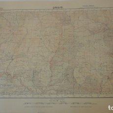 Mapas contemporáneos: ANTIGUO MAPA DE SORT.LERIDA. EDICION MILITAR 1950. Lote 165405942
