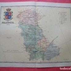Mapas contemporáneos: PALENCIA.-MAPA.-ATLAS GEOGRAFICO DE ESPAÑA.-MANUEL ESCUDE.-LITOGRAFIA A. MARTIN.-BENITO CHIAS.-1901.. Lote 165407922