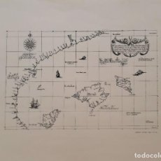 Mapas contemporáneos: MAPA ISLAS BALEARES Y COSTA VALENCIANA, DESDE SAN MARTÍN HASTA CABO DRAGÓN. Lote 166852610