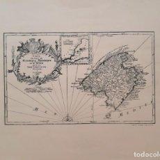 Mapas contemporáneos: MAPA DE MALLORCA, CARTE DE ISLES DE MAIORQUE, MINORQUE ET D'YVICE. Lote 166852690