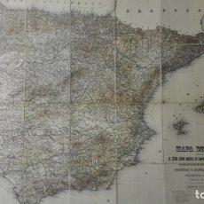 Cartes géographiques contemporaines: ANTIGUO MAPA DE ESPAÑA FORMADO POR D. CARLOS IBAÑEZ E IBAÑEZ DE IBERO, MARISCAL DE CAMPO, AÑO 1902. Lote 167593520