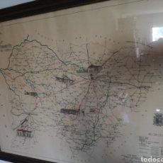 Mapas contemporáneos: MAPA ENMARCADO DIUTACION DE SALAMANCA. Lote 167686789
