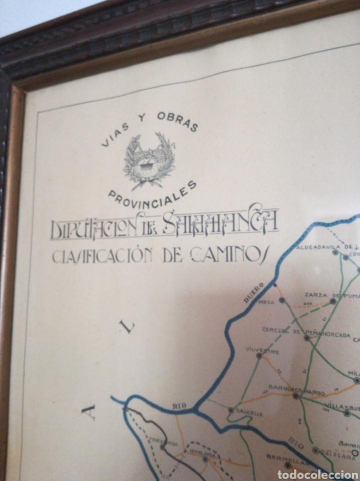 Mapas contemporáneos: MAPA ENMARCADO DIUTACION DE SALAMANCA - Foto 2 - 167686789