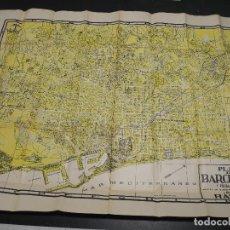 Mapas contemporâneos: PLANO BARCELONA Y PUEBRLOS AGREGADOS ED. RAPIDO. JUAN PRATS VAZQUEZ. 89CMX65CM APROX.. Lote 168609356