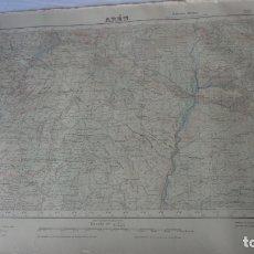 Mapas contemporáneos: ANTIGUO MAPA AREN HUESCA EDICION MILITAR 1950. Lote 168625108
