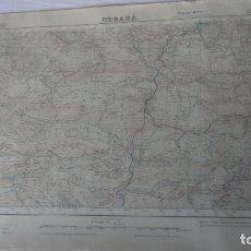 Mapas contemporáneos: ANTIGUO MAPA ORGAÑA LERIDA EDICION MILITAR 1949. Lote 168626560