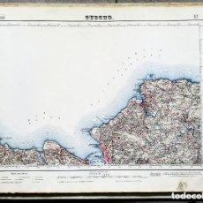 Mapas contemporáneos: MAPA (1953) GUECHO (GETXO, BERANGO, SOPELANA...) INSTITUTO GEOGRÁFICO Y CATASTRAL - LEER DESCRIPCIÓN. Lote 168629672