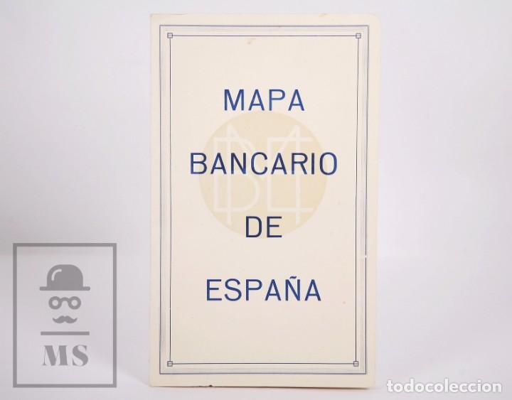MAPA BANCARIO DE ESPAÑA - FERGA, MADRID - AÑOS 40-50 (Coleccionismo - Mapas - Mapas actuales (desde siglo XIX))