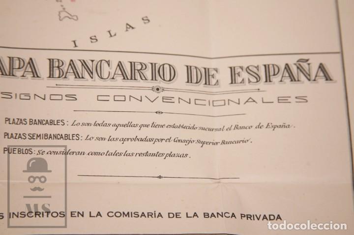 Mapas contemporáneos: Mapa Bancario de España - Ferga, Madrid - Años 40-50 - Foto 5 - 168672096