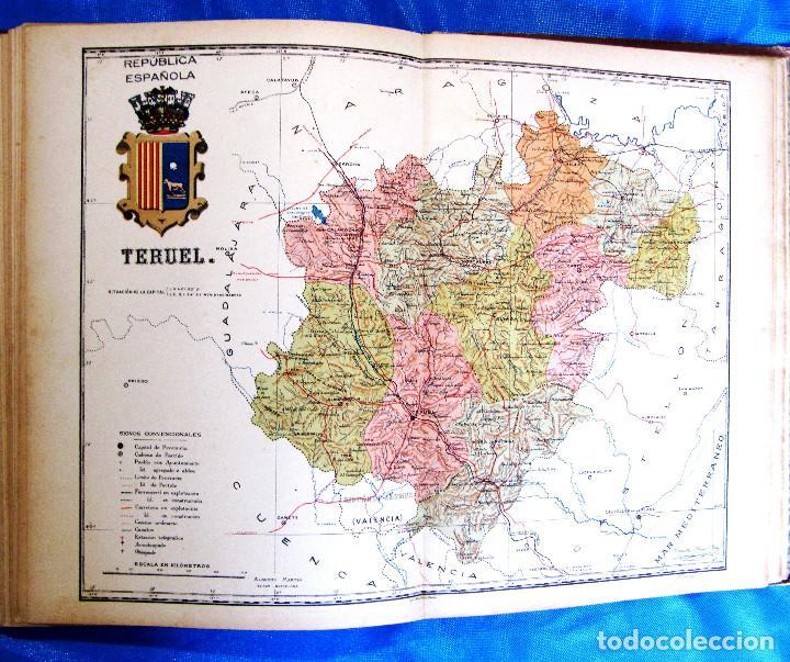 Mapa Provincia De Teruel.Mapa De La Provincia De Teruel Por Benito Chias Tampon Republica Barcelona Anterior A 1932