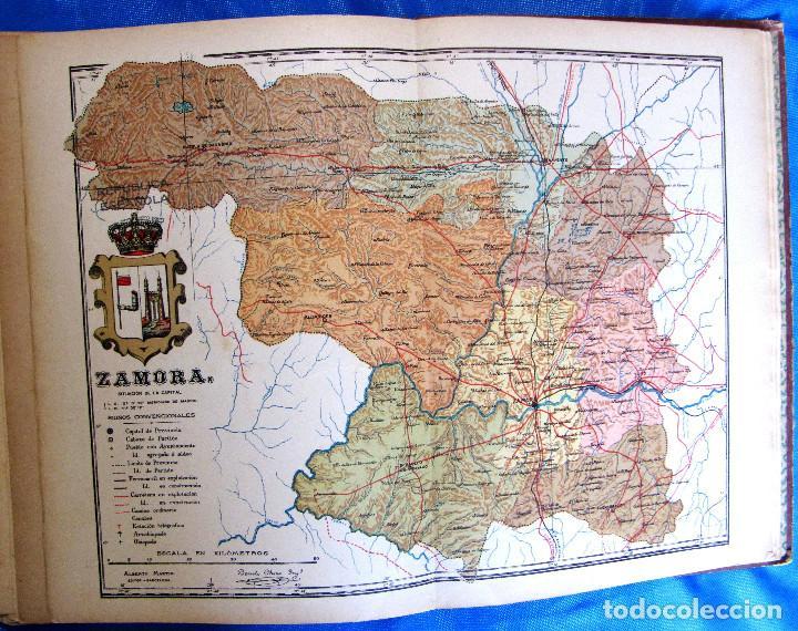 Mapa De Zamora Provincia.Mapa De La Provincia De Zamora Por Benito Chias Tampon Republica Barcelona Anterior A 1932