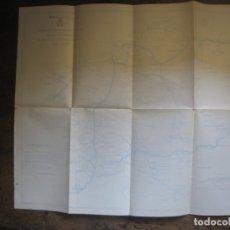 Mapas contemporáneos: PATRONATO NACIONAL DE TURISMO. PLANO DE LAS COMUNICACIONES EN GALICIA. REPUBLICA ESPAÑOLA.. Lote 169866912