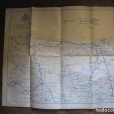 Mapas contemporáneos: PATRONATO NACIONAL DEL TURISMO. PLANO ZONA CENTRAL COSTA DEL CANTABRICO.. Lote 169867232