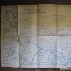 Mappe contemporanee: PATRONATO NACIONAL DEL TURISMO. PLANO DE COMUNICACIONES EN LA ZONA OCCIDENTAL EL PIRINEO.. Lote 169867332