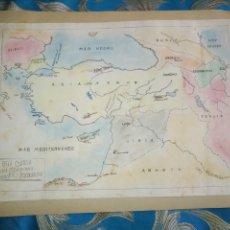 Mapas contemporáneos: DIBUJADO EN 1939 - MAPA TAREA ALUMNO DE COLEGIO - GEOGRAFIA - ASIA MENOR SIBERIA MESOPOTAMIA ARMENIA. Lote 170022312