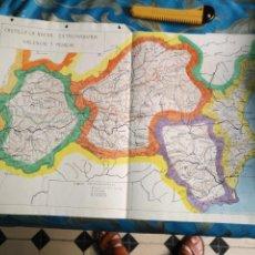 Mapas contemporáneos: DIBUJADO EN 1939 MAPA TAREA ALUMNO D COLEGIO GEOGRAFIA CASTILLA LA NUEVA EXTREMADURA VALENCIA MURCIA. Lote 170026152