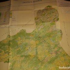 Mapas contemporáneos: MAPA CULTIVOS APROVECHAMIENTOS PLANO ESCALA PROVINCIA DE MURCIA DIRECCIÓN PRODUCCIÓN AGRARIA RUGOMA. Lote 170304692