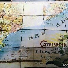 Mapas contemporáneos: MAPA DE CATALUNYA - 1906 - F. FLOS Y CALCAT - ILUSTRA ANTONI UTRILLO FACSÍMIL - LIMITADO Y NUMERADO. Lote 171008878