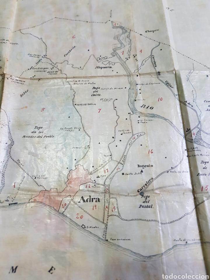 Mapas contemporáneos: Mapa municipio Adra (Almería) Hecho a mano. Papel laminado plastificado. Años 50 - Foto 2 - 171203589